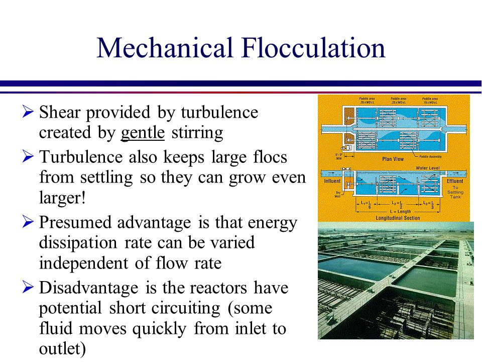 Laminar Flow Floc Model Velocity gradient Flocculation time Fractional surface coverage of colloid by coagulant Floc volume fraction Sedimentation tank capture velocity Sedimentation velocity of ??.