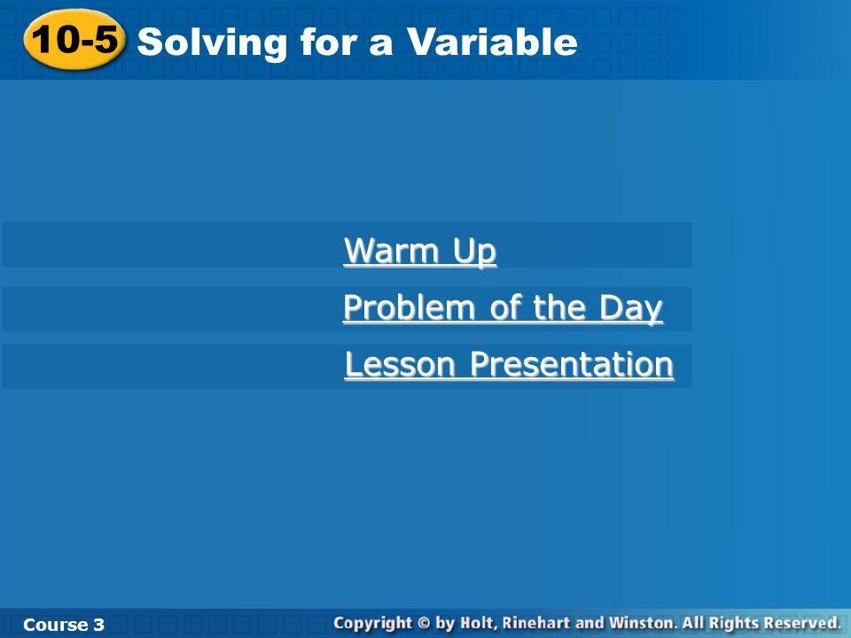 Warm Up Solve.1. 8x – 9 = 23 2. 9x + 12 = 4x + 37 3.