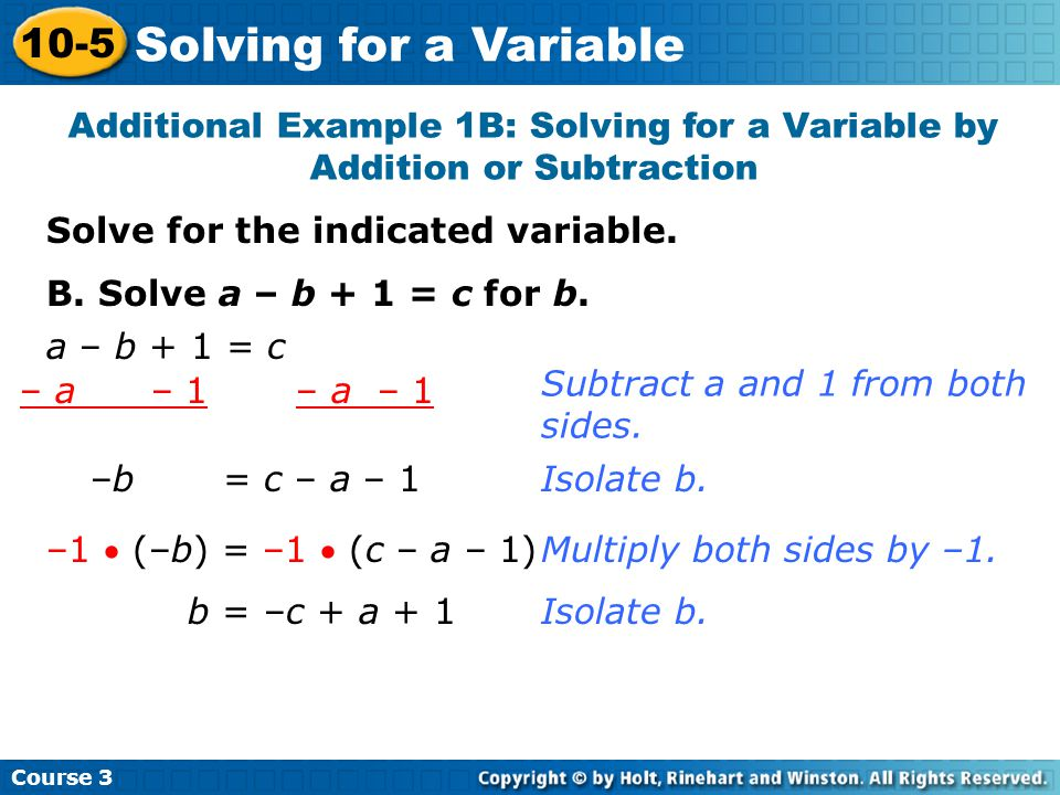 Solve for the indicated variable.Try This: Example 1A A.
