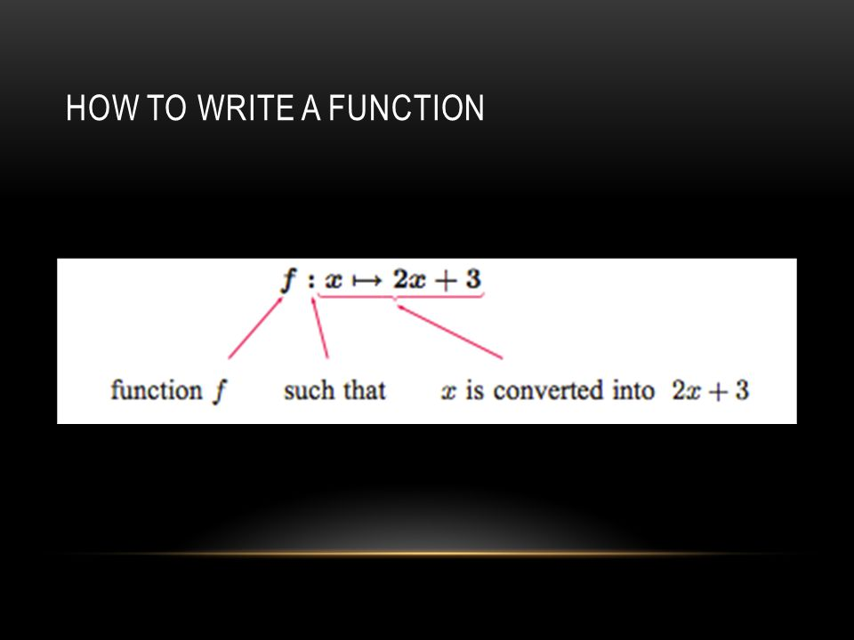 HOW TO WRITE A FUNCTION