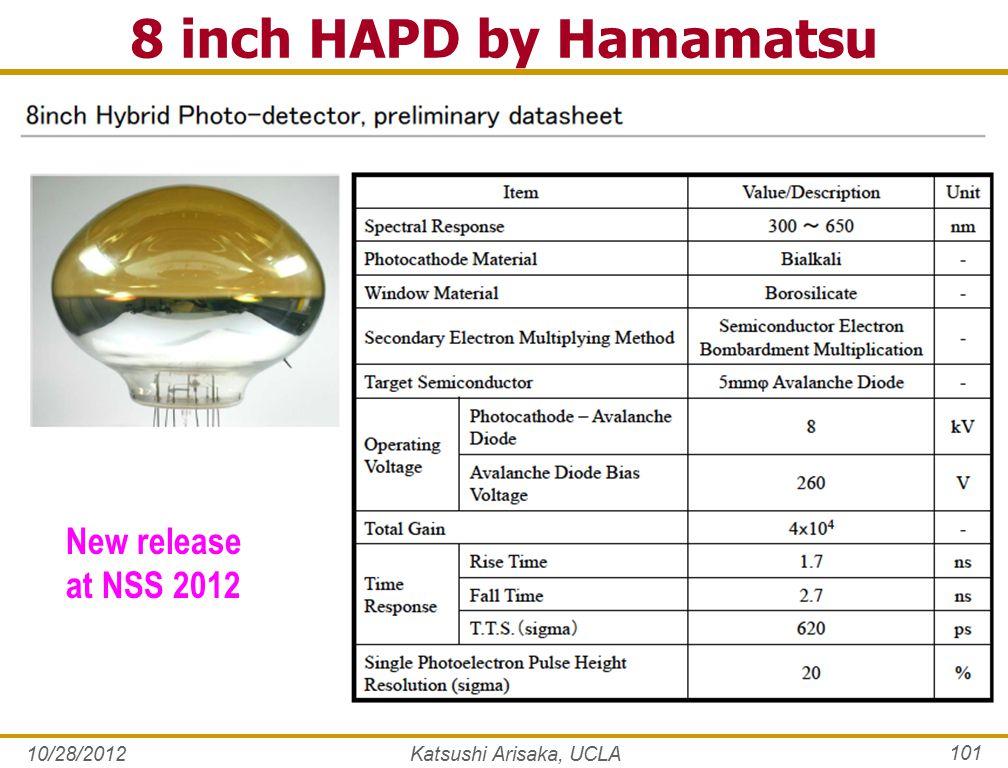 10/28/2012 101 8 inch HAPD by Hamamatsu Katsushi Arisaka, UCLA New release at NSS 2012