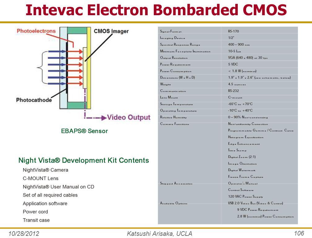10/28/2012Katsushi Arisaka, UCLA 106 Intevac Electron Bombarded CMOS