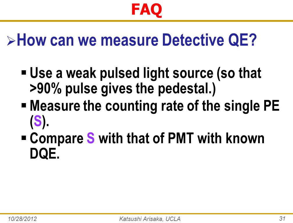 FAQ  How can we measure Detective QE.