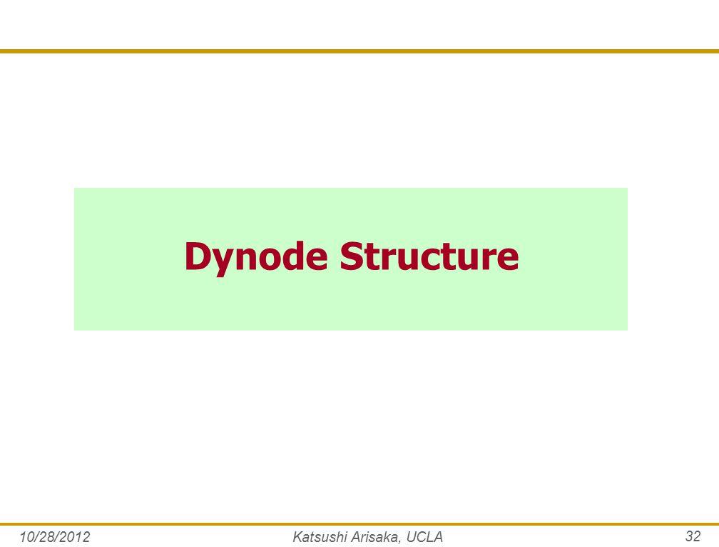 Dynode Structure 10/28/2012Katsushi Arisaka, UCLA 32