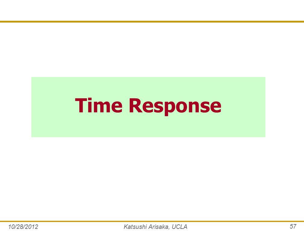 Time Response 10/28/2012Katsushi Arisaka, UCLA 57