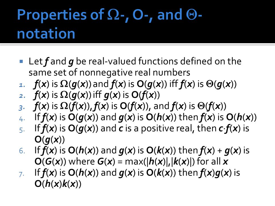  Let f and g be real-valued functions defined on the same set of nonnegative real numbers 1.