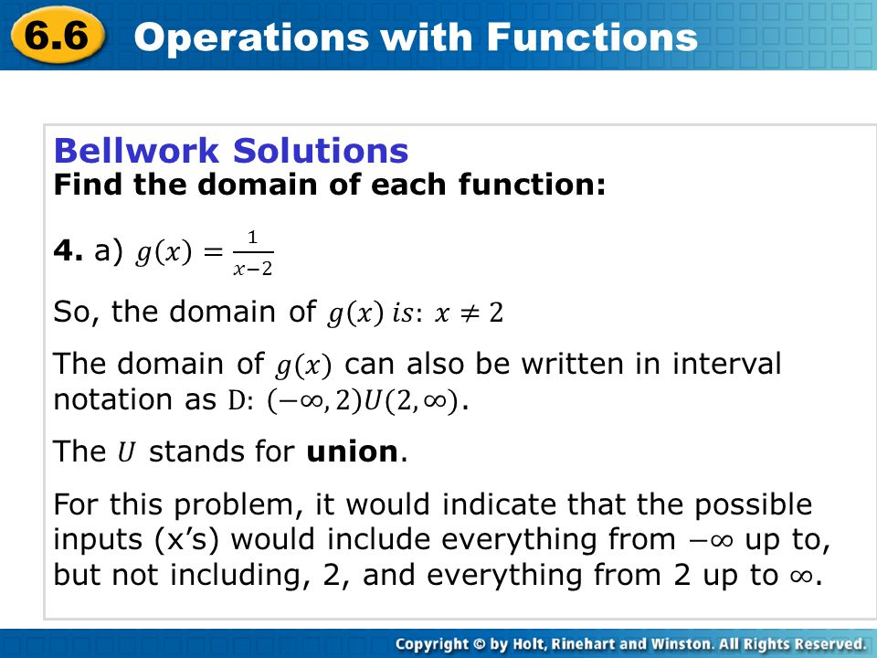 6.6 Operations with Functions Set up the division as a rational expression.