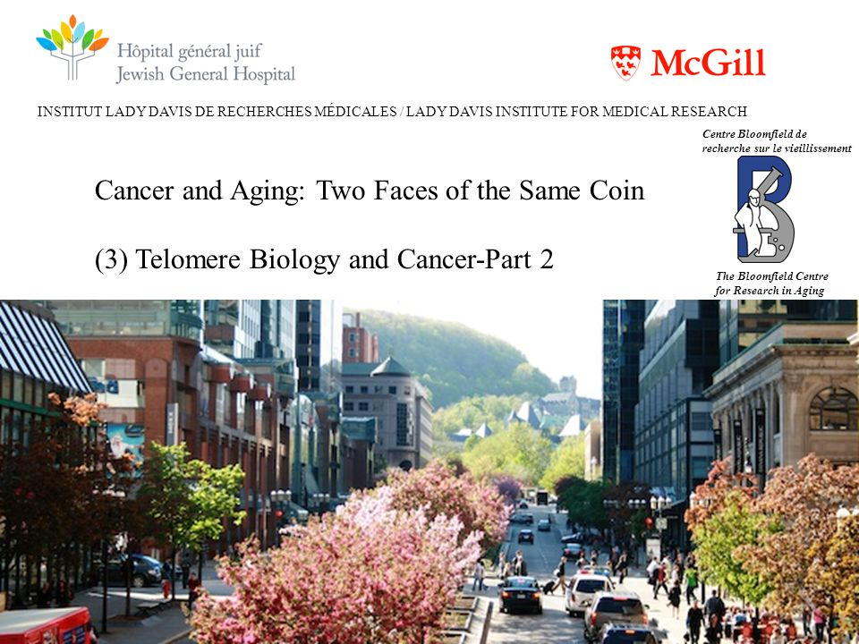 INSTITUT LADY DAVIS DE RECHERCHES MÉDICALES / LADY DAVIS INSTITUTE FOR MEDICAL RESEARCH Cancer and Aging: Two Faces of the Same Coin (3) Telomere Biol