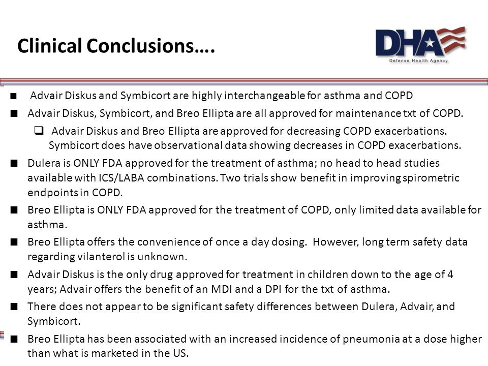 Clinical Conclusions….