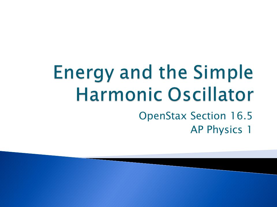 OpenStax Section 16.5 AP Physics 1