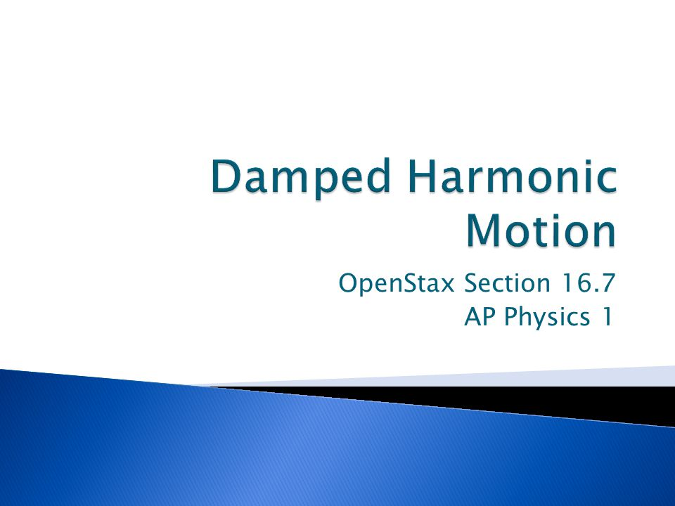 OpenStax Section 16.7 AP Physics 1