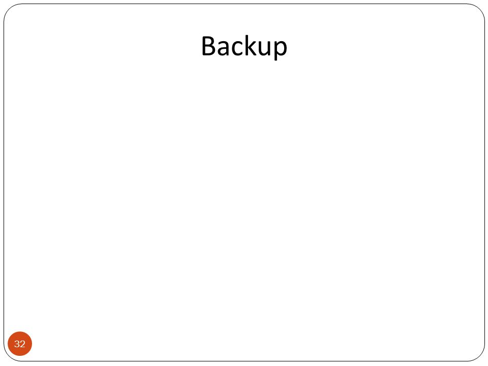 Backup 32