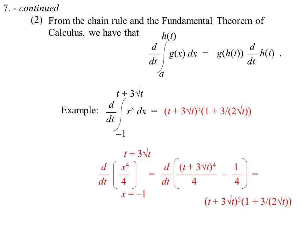 (2) Example: 7.
