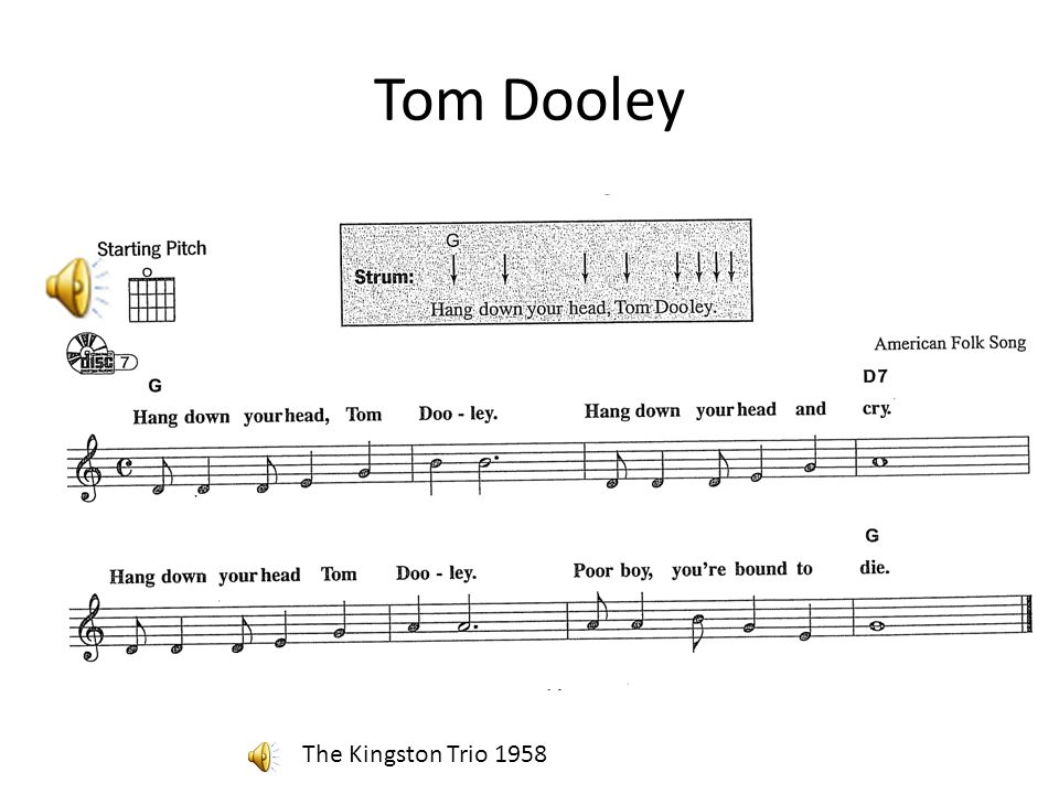 Tom Dooley The Kingston Trio 1958