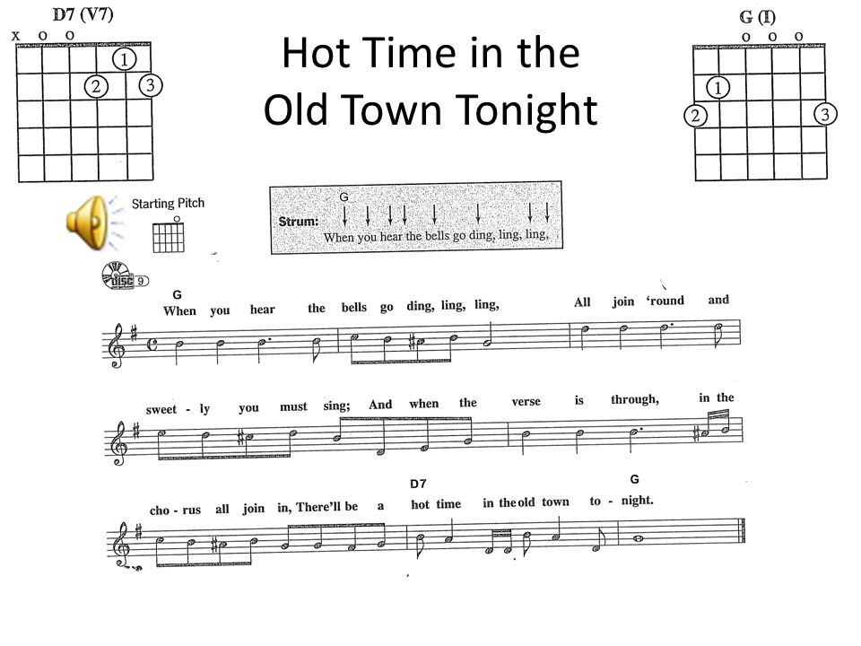 Hot Time in the Old Town Tonight