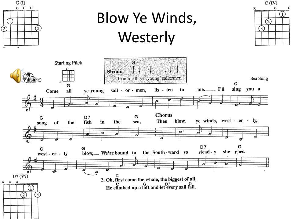 Blow Ye Winds, Westerly