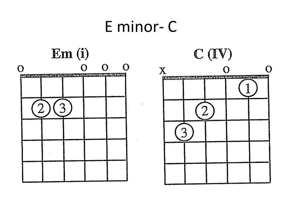 E minor- C