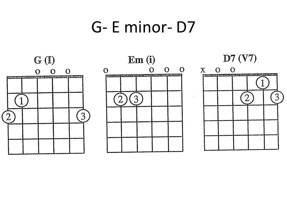 G- E minor- D7