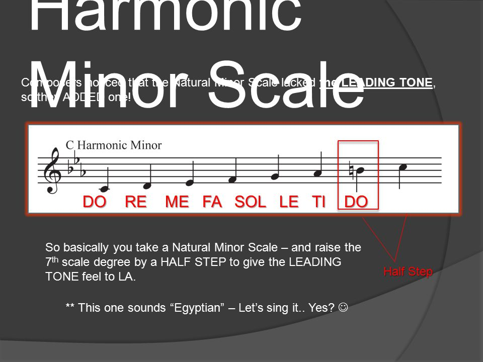 Comparing Major and Minor Scales So here we see that C Major's PARALLEL MINOR is C minor.