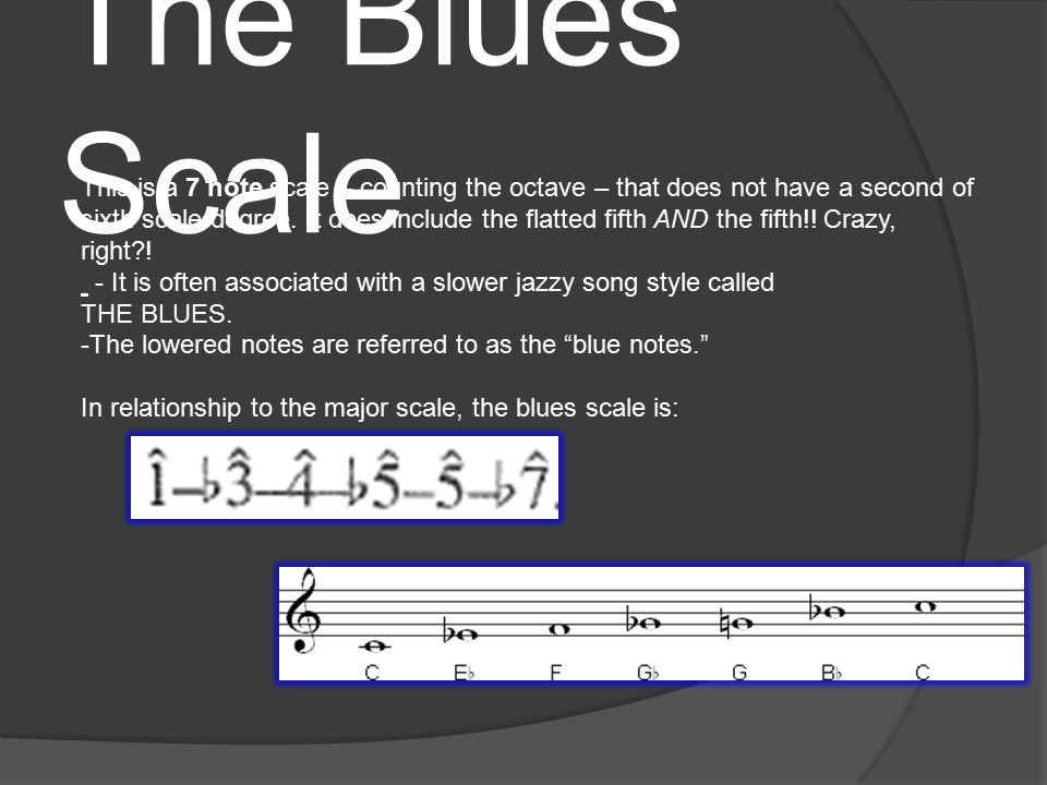 The Diminished Scale (Octatonic) This scale alternates whole-step and half-step intervals.