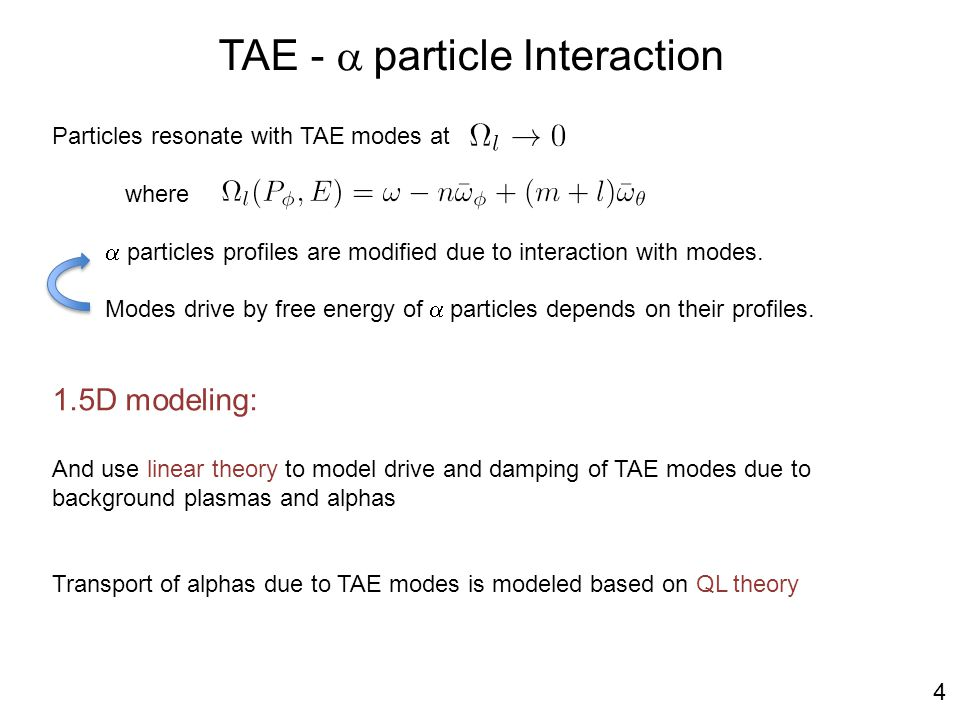 Particles resonate with TAE modes at where  particles profiles are modified due to interaction with modes.