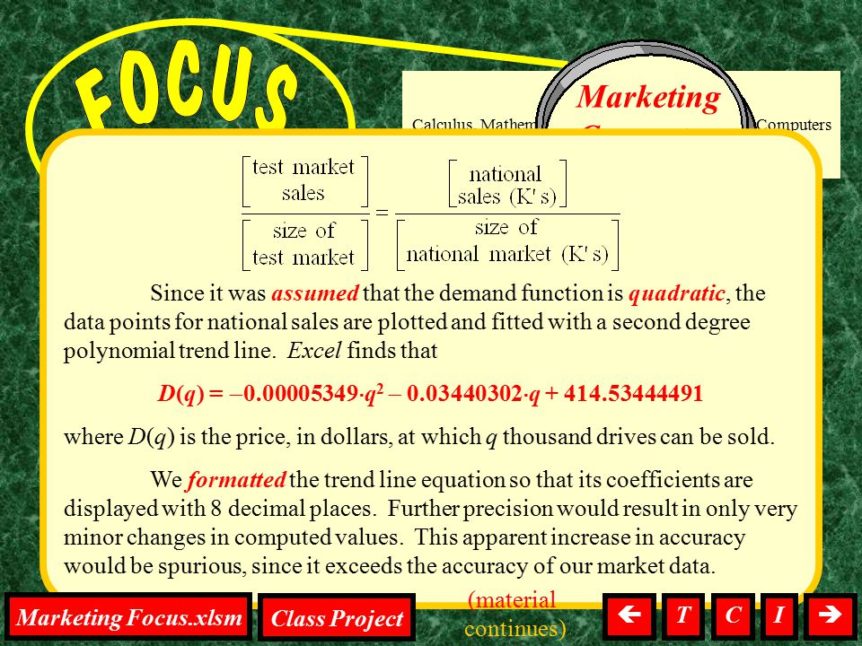 on the project Calculus, Mathematics, Tests, Homework, Computers Marketing Computer Drives Since it was assumed that the demand function is quadratic,