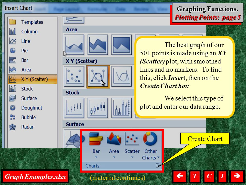 Graphing, Points Right click in the plot region, then left click on Select Data.