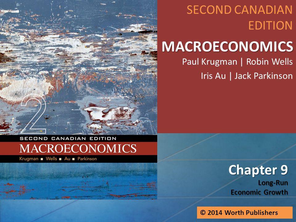 Chapter 9 Long-Run Economic Growth SECOND CANADIAN EDITION MACROECONOMICS MACROECONOMICS Paul Krugman   Robin Wells Iris Au   Jack Parkinson © 2014 Wo