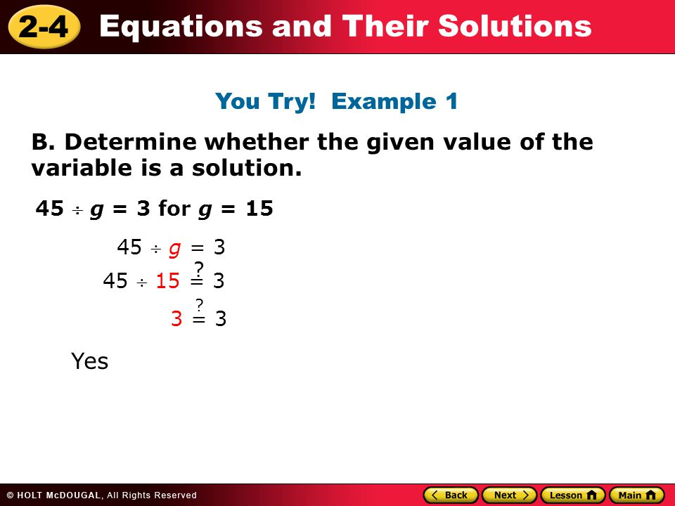 2-4 Equations and Their Solutions B.