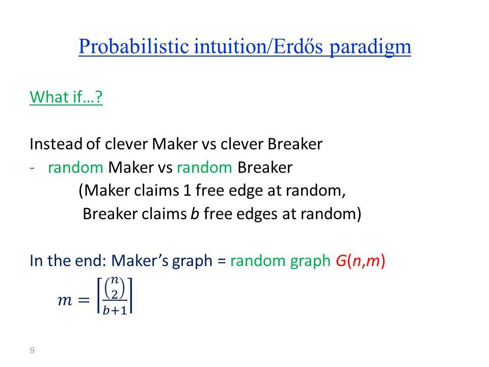 Probabilistic intuition/Erdős paradigm 9
