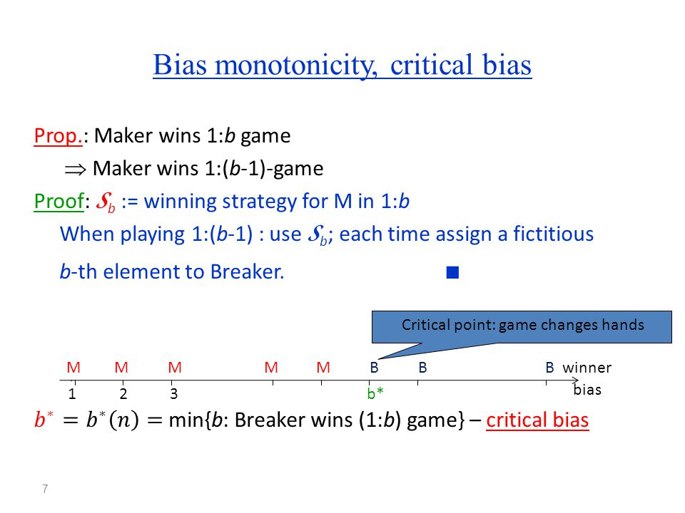 So what is the critical bias for…? 8