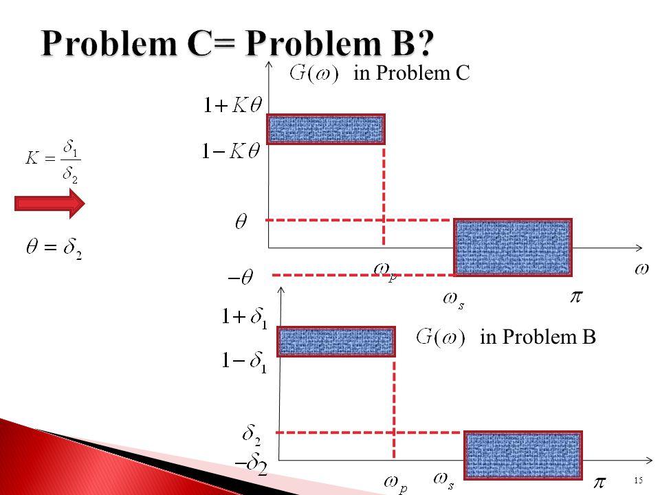 15 in Problem C in Problem B