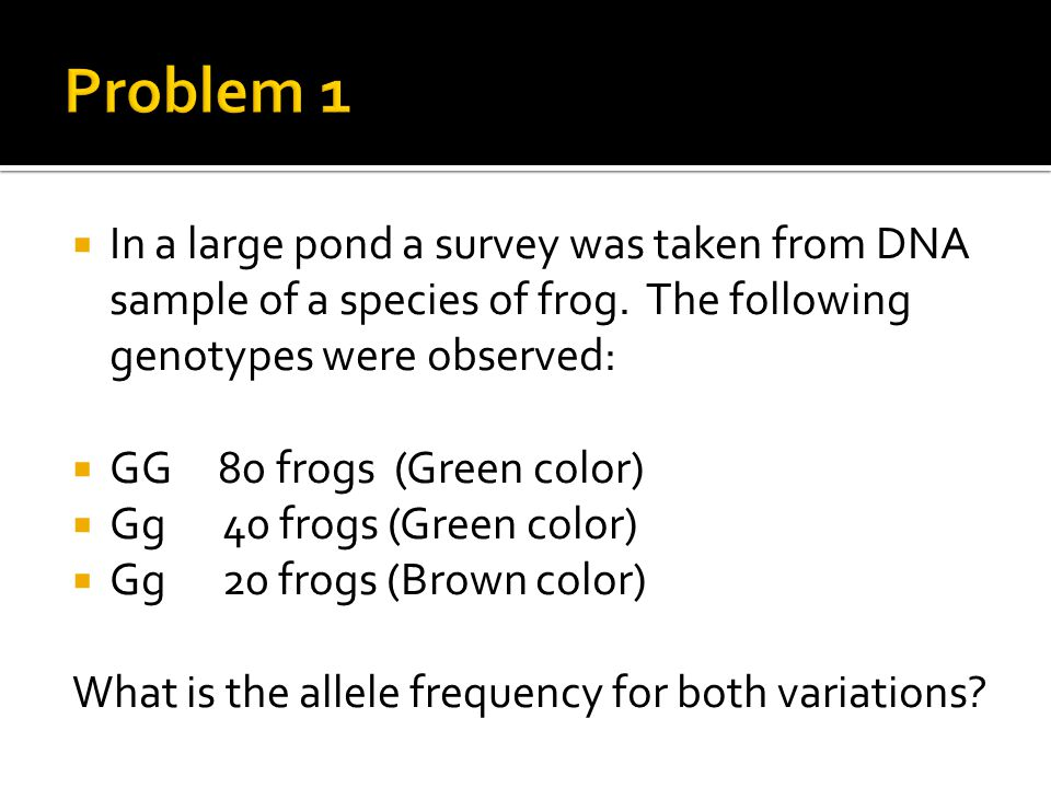  First, calculate how many total alleles are in this population.
