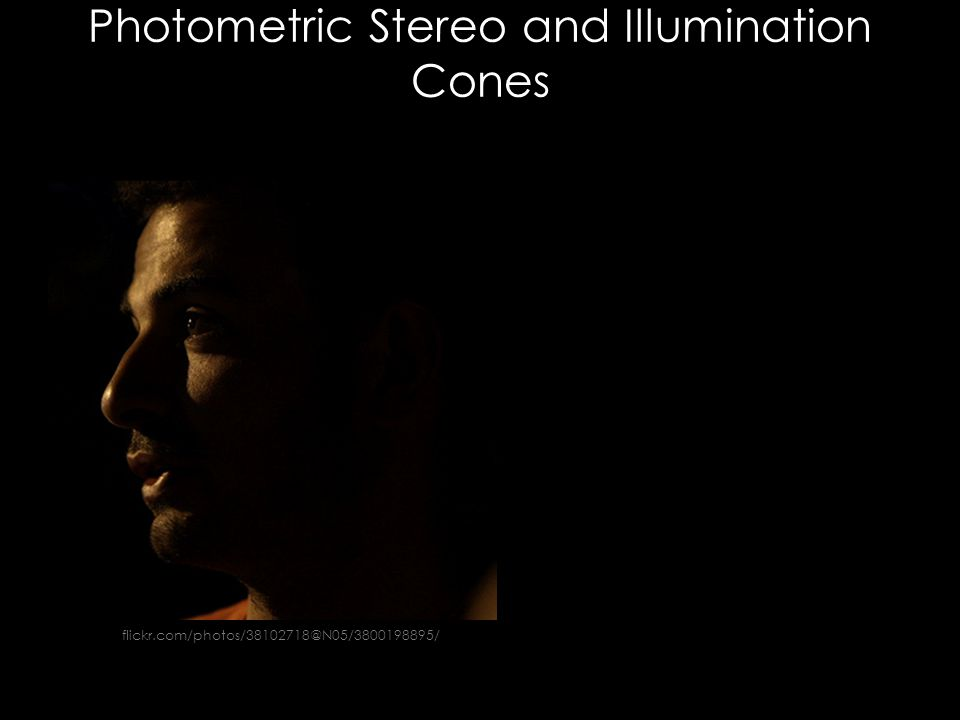 Photometric Stereo and Illumination Cones flickr.com/photos/38102718@N05/3800198895/