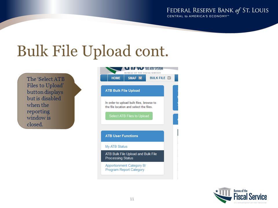Bulk File Upload cont.