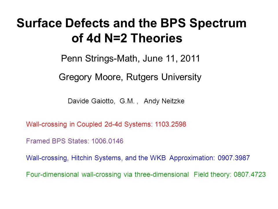 New BPS Degeneracies:  2D soliton degeneracies.