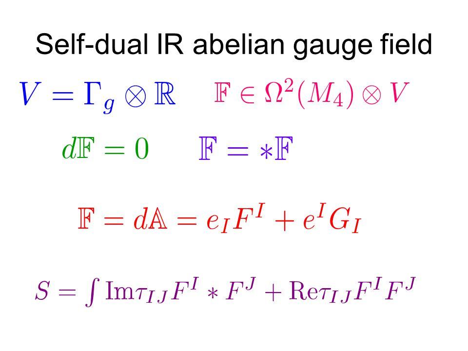 Self-dual IR abelian gauge field