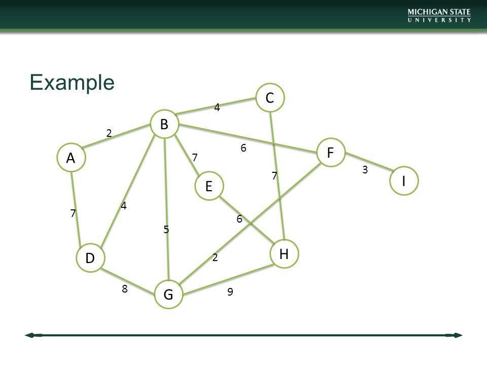 Example A B C D E F G H I 2 7 4 5 8 4 6 7 6 2 9 3 7