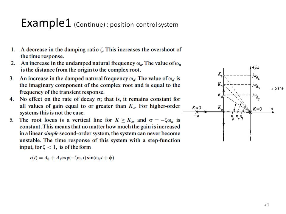 24 Example1 (Continue) : position-control system