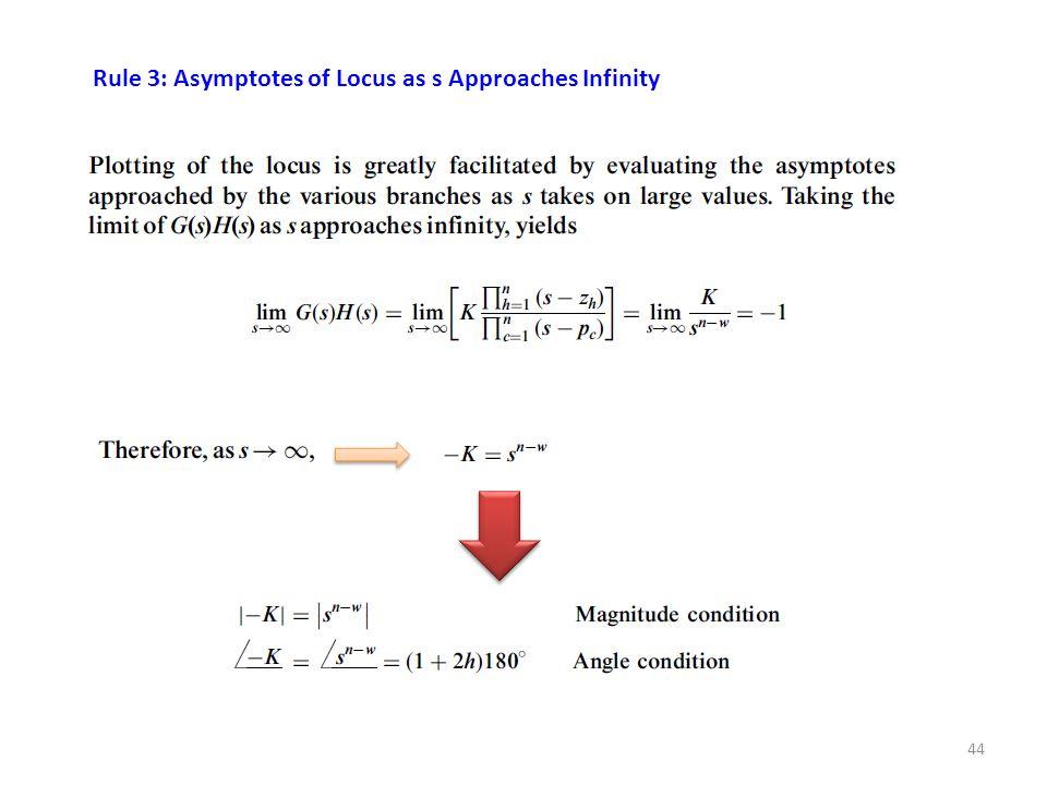 44 Rule 3: Asymptotes of Locus as s Approaches Infinity