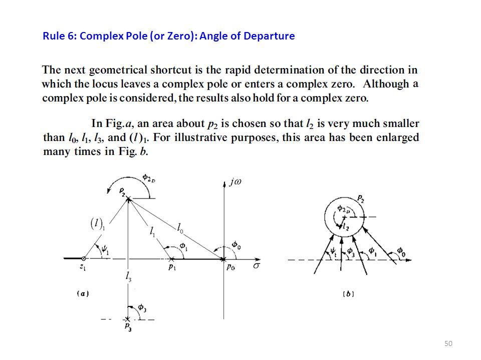 50 Rule 6: Complex Pole (or Zero): Angle of Departure
