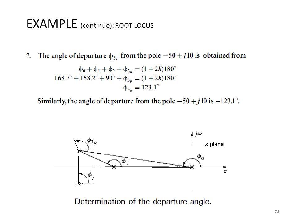 74 EXAMPLE (continue): ROOT LOCUS