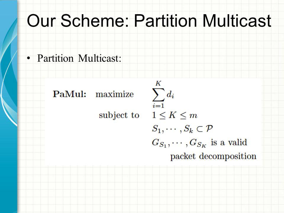 Our Scheme: Partition Multicast Partition Multicast: