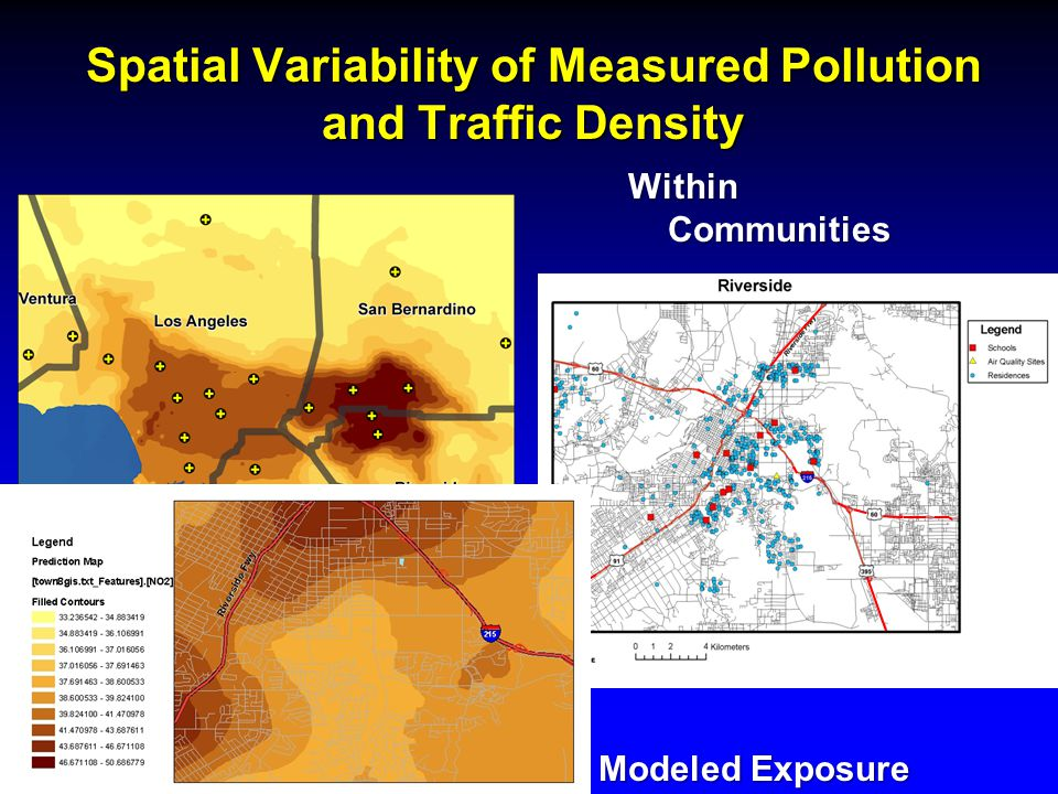 Spatial Variability of Measured Pollution and Traffic Density Regionally Within Communities Modeled Exposure