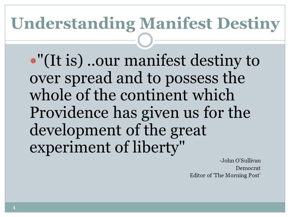4 Understanding Manifest Destiny
