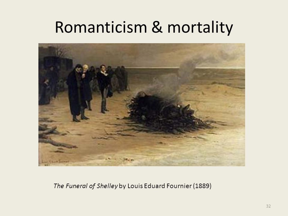 Romanticism & mortality 32 The Funeral of Shelley by Louis Eduard Fournier (1889)