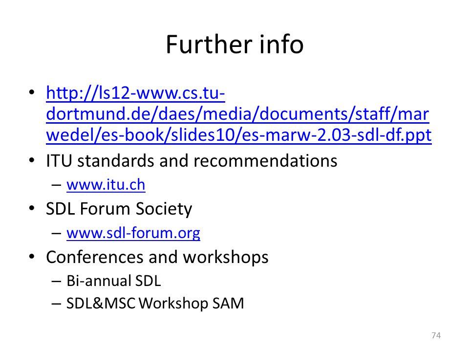 Further info http://ls12-www.cs.tu- dortmund.de/daes/media/documents/staff/mar wedel/es-book/slides10/es-marw-2.03-sdl-df.ppt http://ls12-www.cs.tu- d