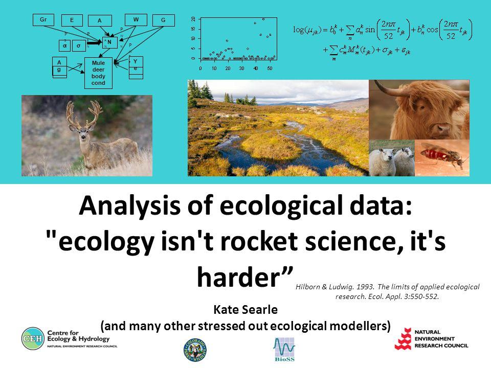 Analysis of ecological data: