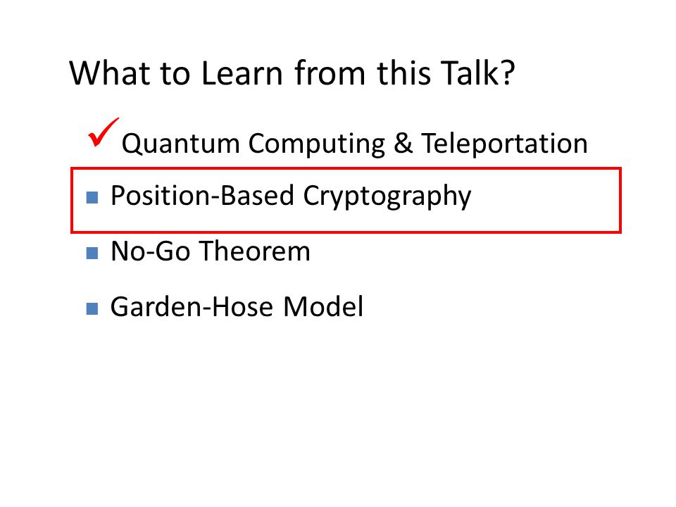 14 What to Learn from this Talk.