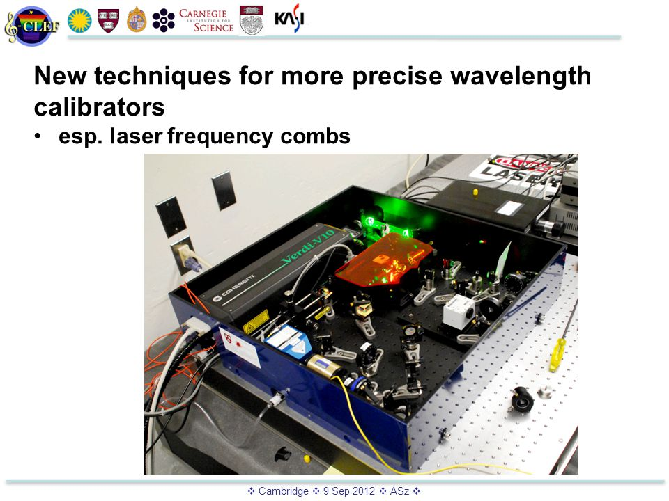  Cambridge  9 Sep 2012  ASz  New techniques for more precise wavelength calibrators esp.